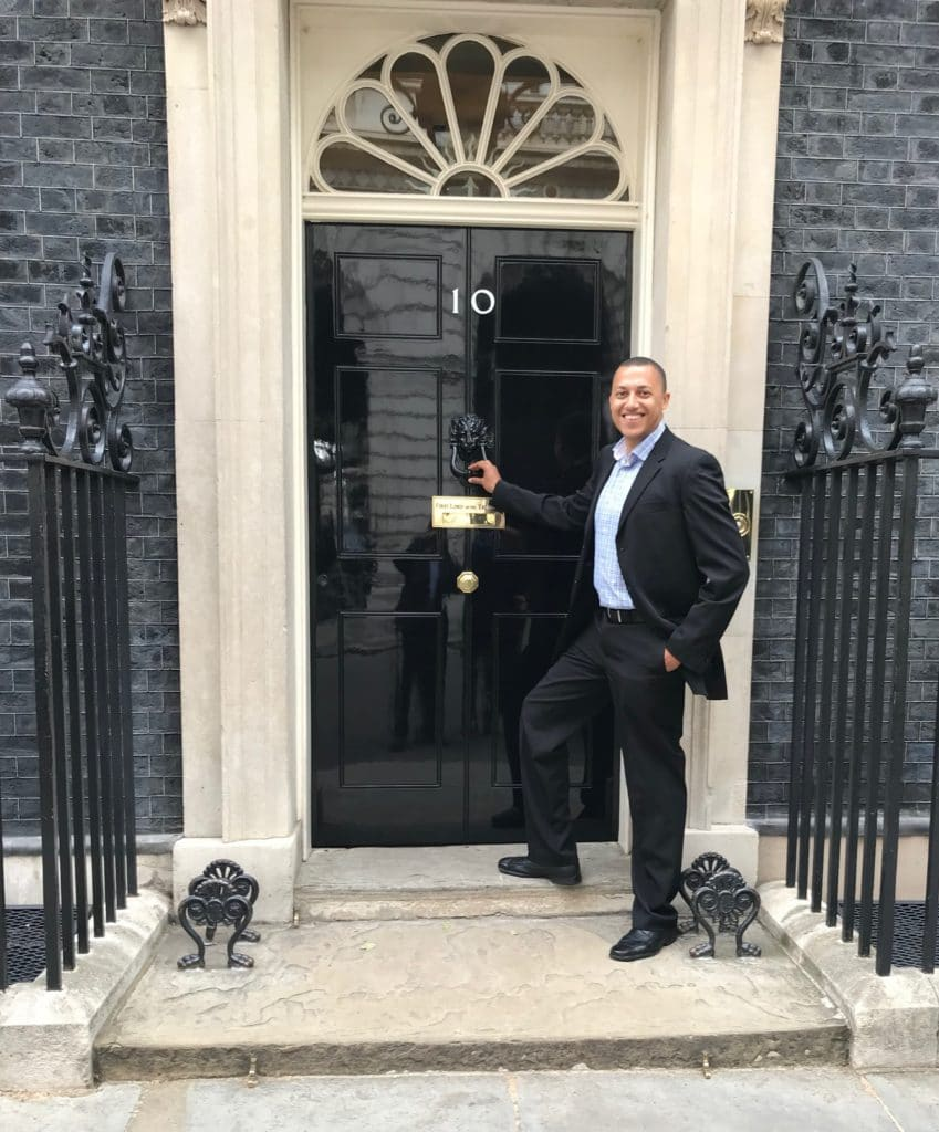 Aaron Henriques was invited to 10 Downing Street to talk small business