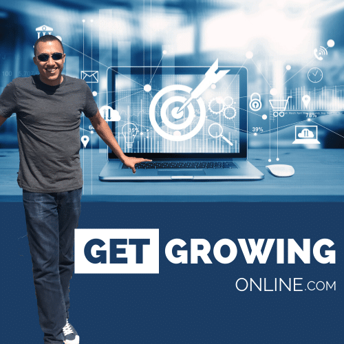 Get Growing Online is a business podcast hosted by the British entrepreneur Aaron Henriques a former police officer in London. Listen on Apple podcasts and spotify podcasts.