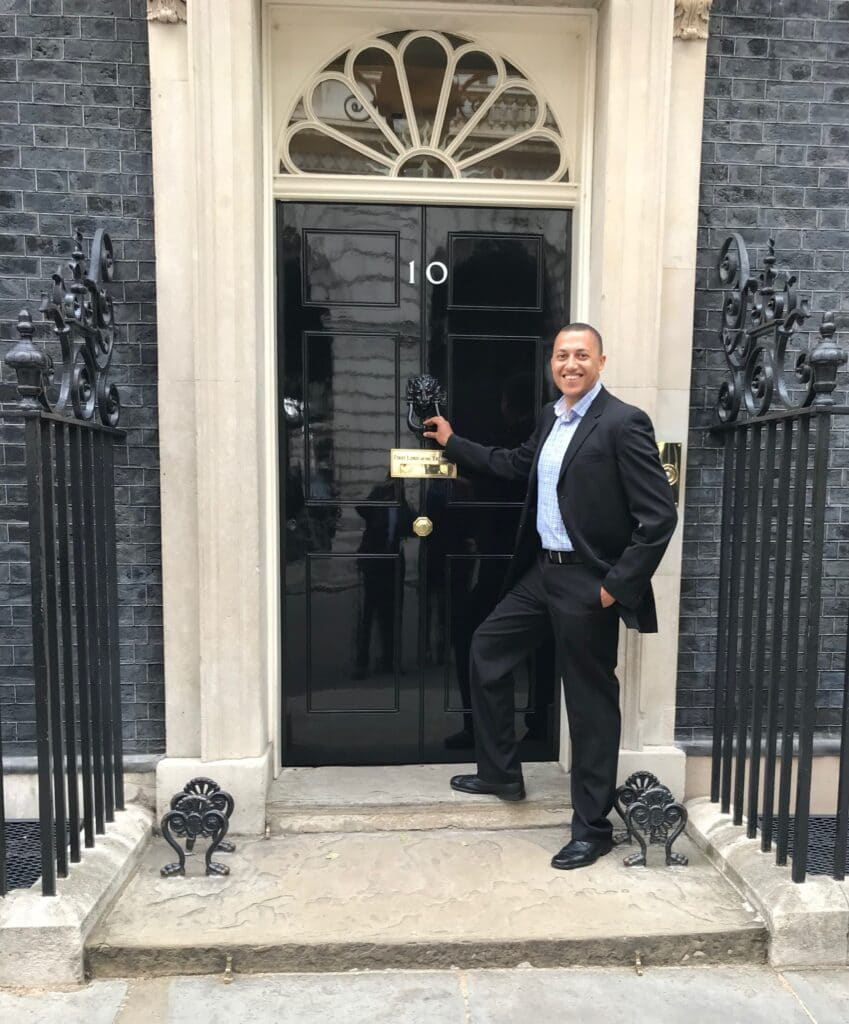 Aaron Henriques at Downing Street